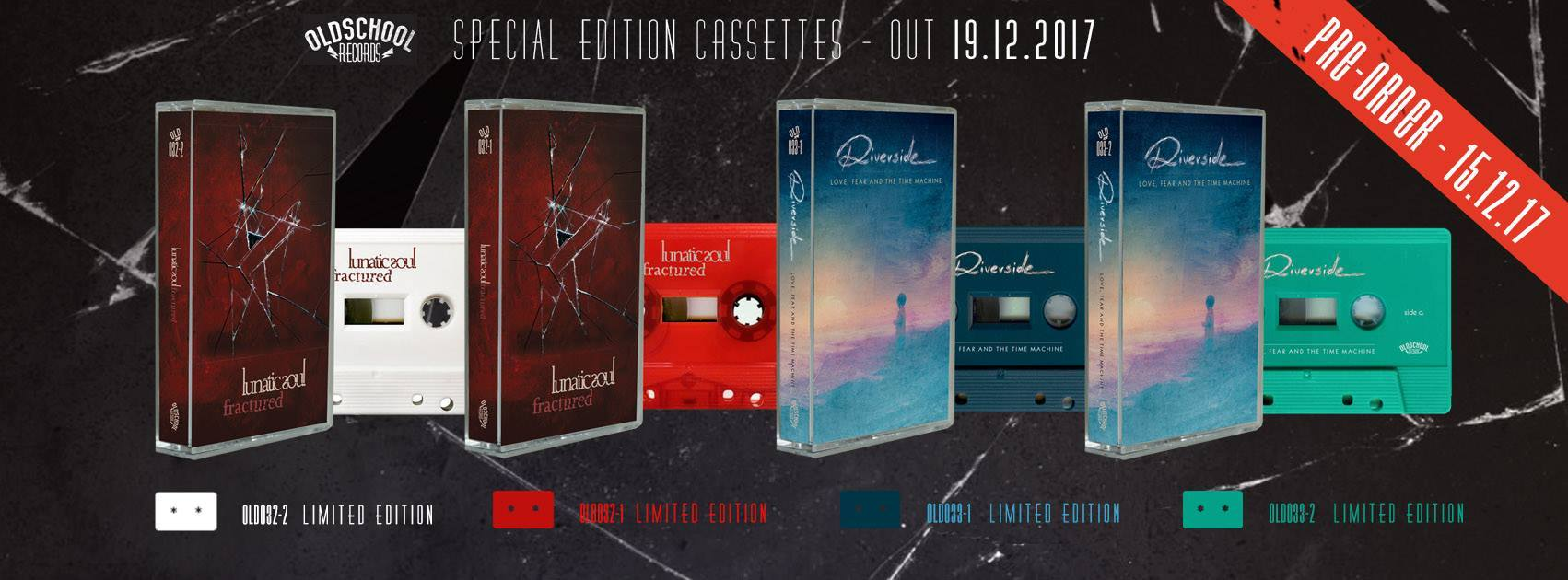 cassette tapes release of Love, Fear and the Time Machine and Fractured