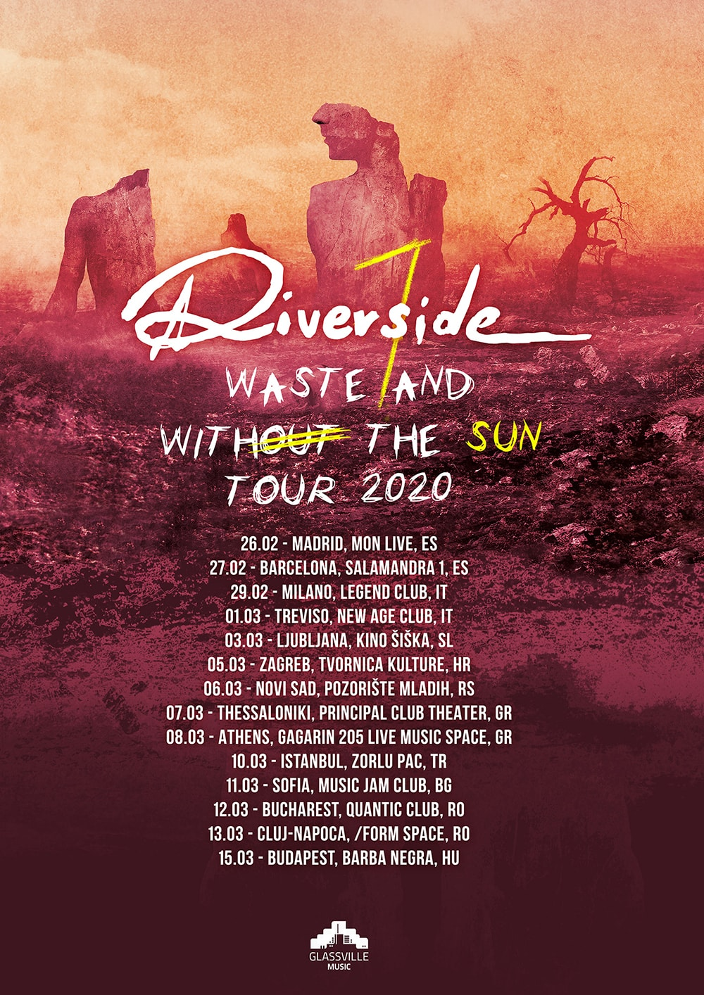 RIVERSIDE - WASTELAND WITH THE SUN TOUR 2020